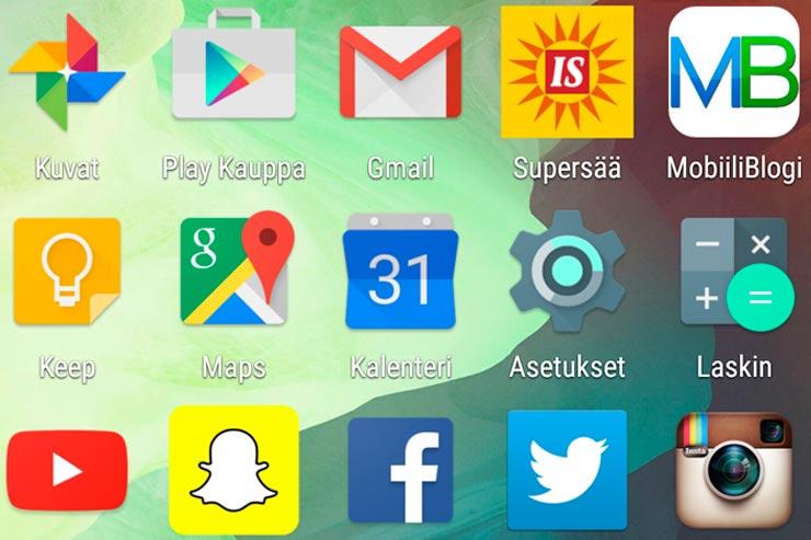 Android-kuvakkeet