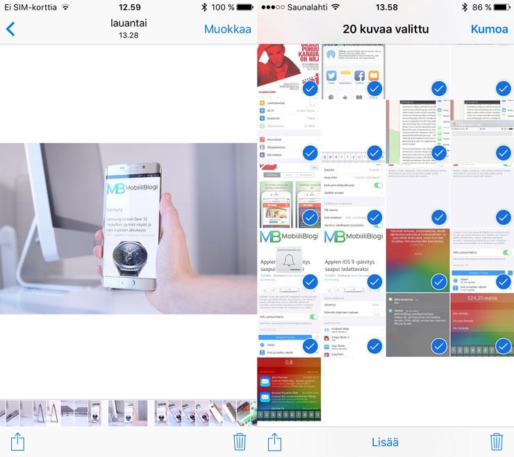 iOS 9, kuvat