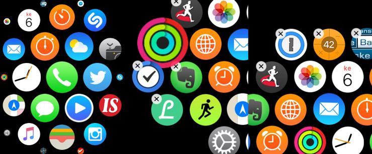 Apple Watch, sovelluksia