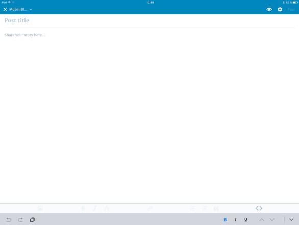 WordPress, iPad Pro