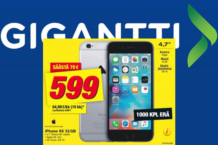 Gigantti, iPhone 6s (32GB)