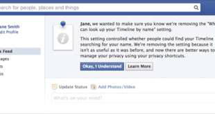 Facebook updated its privacy setting