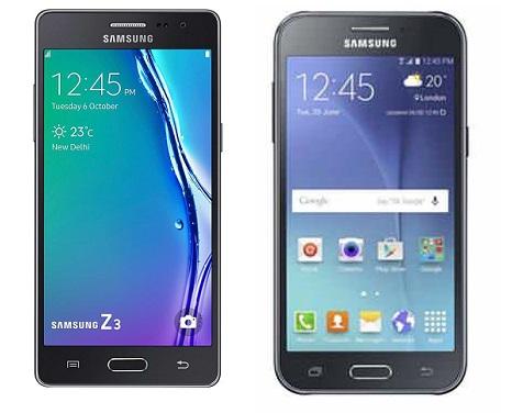 Samsung Z3 and Samsung J2