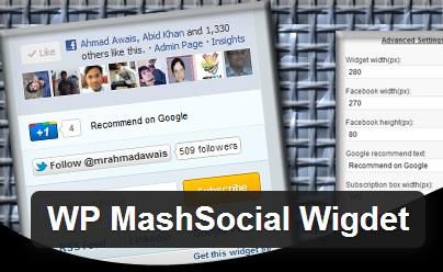 WP MashSocial Wigdet