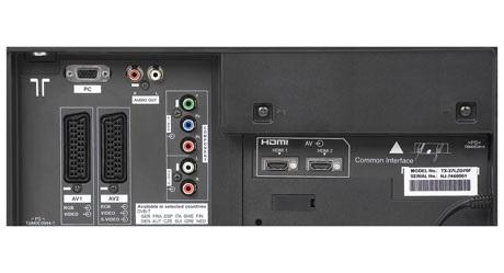 Panasonic TX-37 LZD 70 F - Connection Panel