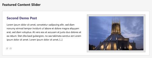 WP Featured Content Slider wordpress plugin