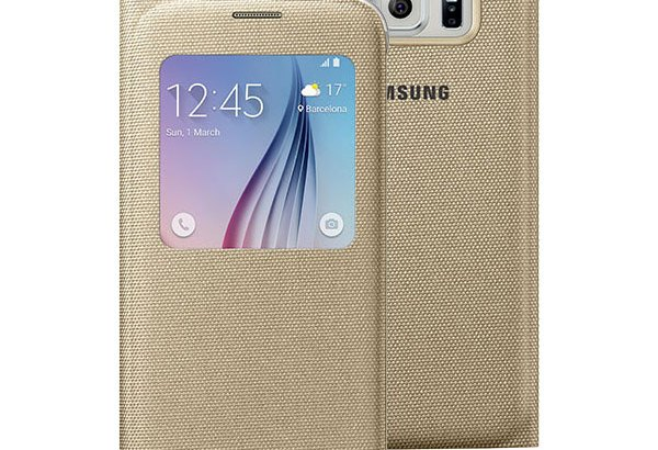 Official Samsung Galaxy S6 S View Fabric Premium Cover Case