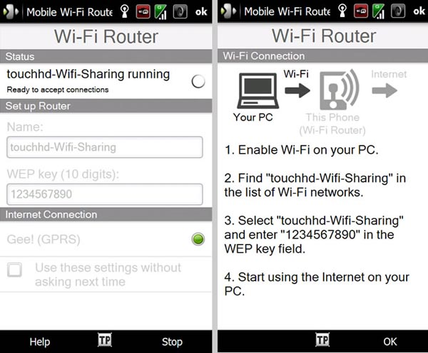 HTC Windows Mobile Smartphones Pull WiFi Router Duties Too