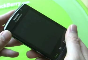 First Hands-On Video with BlackBerry Storm 9550 (Storm 2)