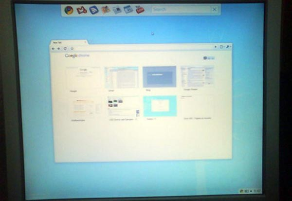 Live Screenshots of Google Chrome OS Hit the Net
