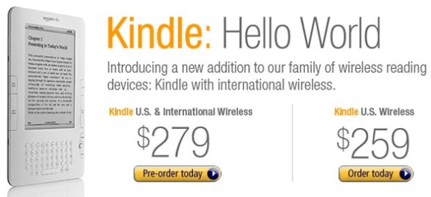 Say Hello to Amazon Kindle GSM International Edition
