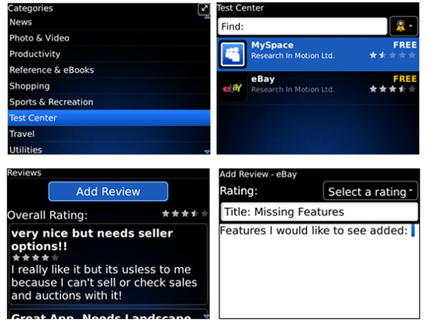 Download Beta Software with BlackBerry App World Test Center