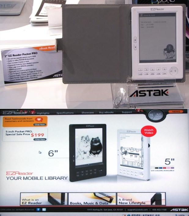 Astak Pocket PRO EZ Reader for eBooks