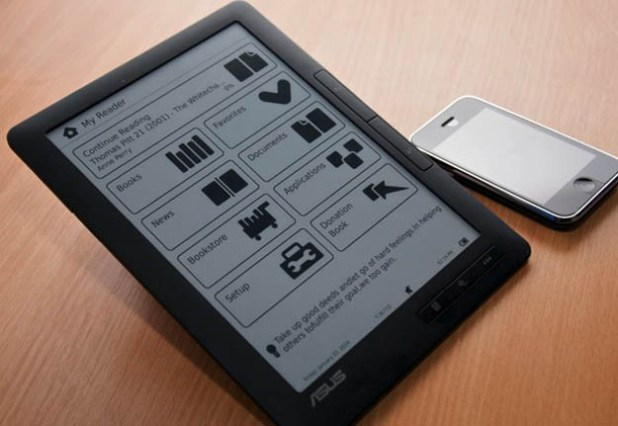 Live Look at Asus DR-950 Touchscreen E-Book Reader