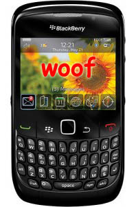 BlackBerry Curve 8520 Bound for Fido's Yard