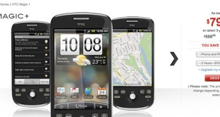 HTC Magic + shown on the Rogers Canada website.