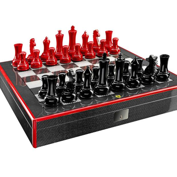 Ferrari-carbon-fiber-chess-set