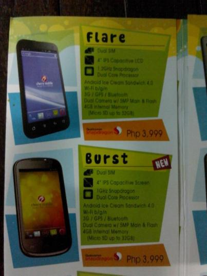 Cherry Mobile Burst Leaked Flyer Shot