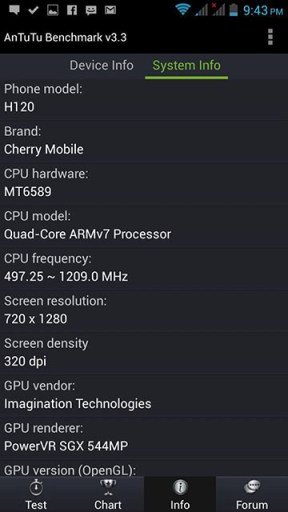 Cherry Mobile Omega HD 2.0 System Info