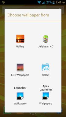 MyPhone A919i Duo Long Press on Homescreen