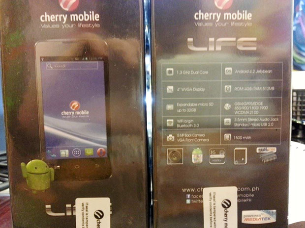 Cherry Mobile Life Box Front and Back