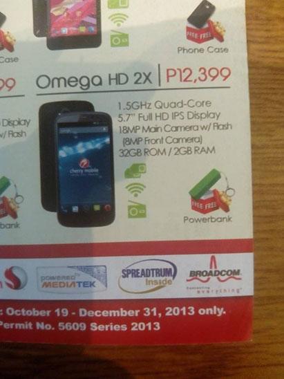 Cherry Mobile Omega HD 2X Leaked Flyer