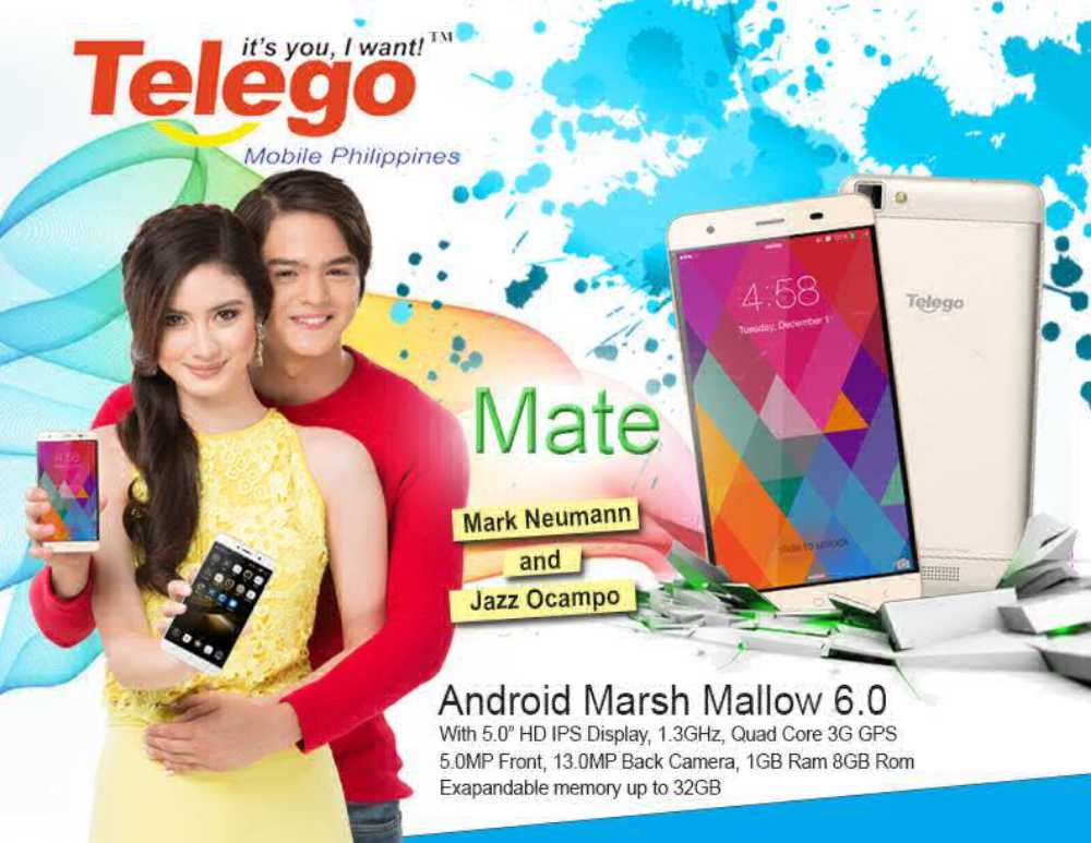 Telego Mate is a 5 Inch HD Smartphone Running Marshmallow 6.0 for Just Php3,399!