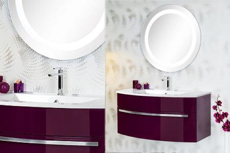 stunning salle de bain blanc et aubergine pictures - awesome