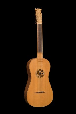 Baroque guitar front