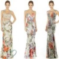 Vestidos de festa estampados 2014, cores em tendência