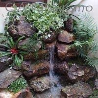 Cascata de jardim, instalar uma dessas para mais beleza