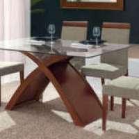Linda mesa de jantar com 6 cadeiras - confira tipos diferentes