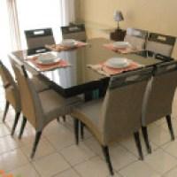 Mesa de jantar 8 lugares, dias comuns e festivos