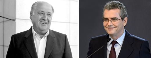 Izquierda: Amancio Ortega