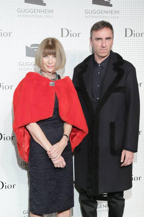 Anna Wintour and Raf Simons/ Dior facebook