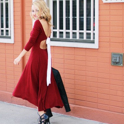 BACKLESS LACE UP