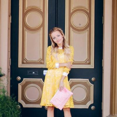 LITTLE YELLOW LACE DRESS
