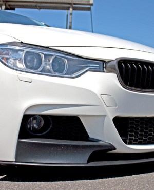 BMW F30 3-Series 2012-14 M-Sport Replacement Front Bumper Installed 1