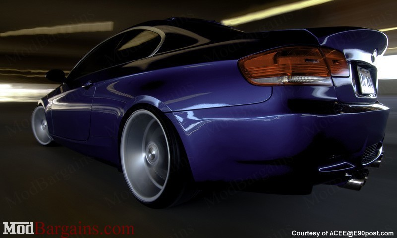 Back view with e92 bootlid