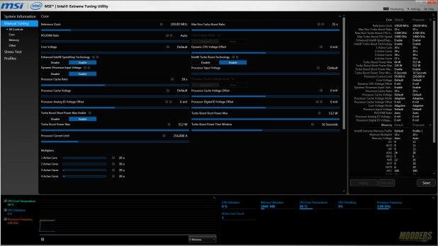 MSI Intel Xtreme Tuning Utility
