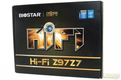 Biostar Hi-Fi Z97Z7 Motherboard Box Front