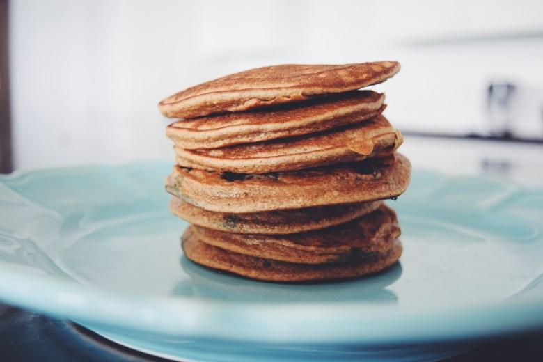 The Best Banana Blender Pancakes