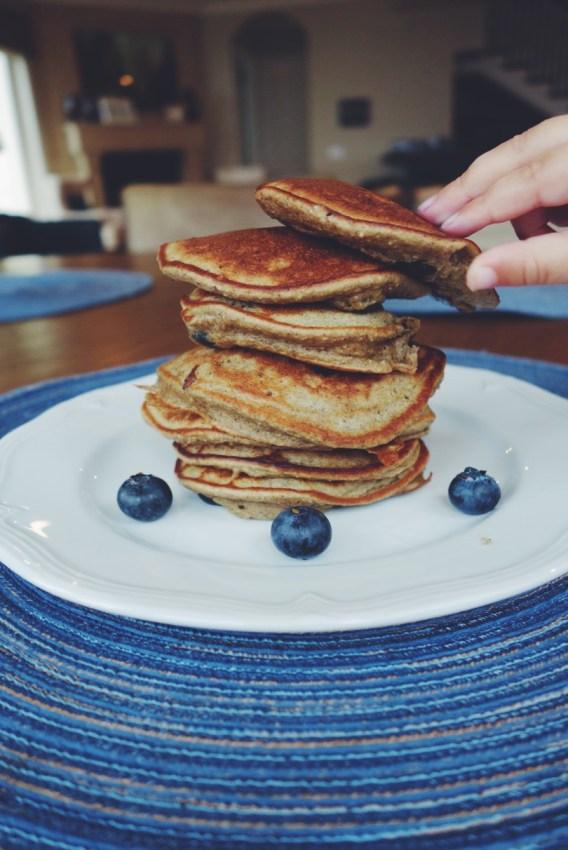 Banana Blender Pancakes