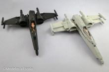 Pilotos de Star Wars resistance x-wing fuselajes en progreso