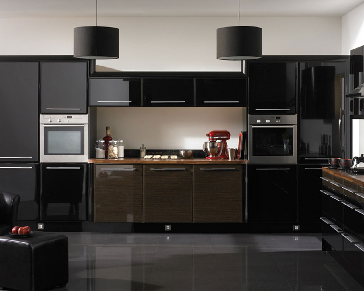 Black sweet Kitchen Cabinets Design Seductive furniture design Awesome kitchen cabinet door ideas Futuristic Style 1280x1024