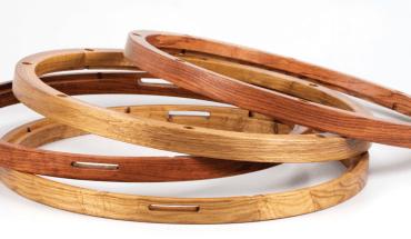 2 sets of wood hoops