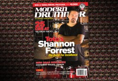 October 2016 issue of Modern Drummer magazine featuring Shannon Forrest