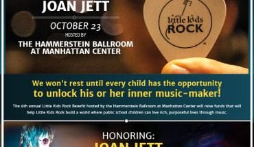 Little Kids Rock to Honor Joan Jett on October 23