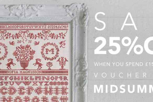 25% Off Sale at Modern Folk Embroidery with Discount Coupon MIDSUMMER16