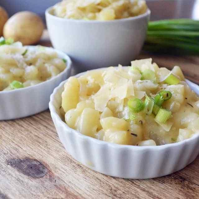 Parmesan Potato Risotto is brand new on Modern Honey todayhellip
